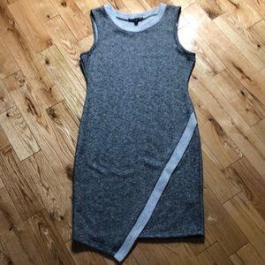 🍍2/25$ Snap asymmetrical knit gray dress